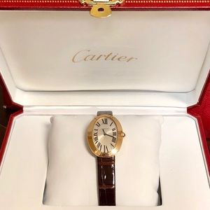 Cartier 18K Mini Baignoire Watch